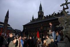PROTEST MOT FINANSIELL POLITIK FÖR EDUATION royaltyfria bilder