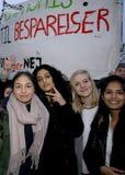 PROTEST MOT FINANSIELL POLITIK FÖR EDUATION royaltyfria foton