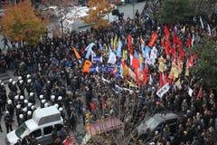 Protest mot gripandet av Kurdish parlamentarikerer Arkivbild