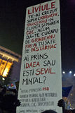 Protest mot korruptionreformer i Bucharest Royaltyfria Foton