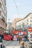 Protest mot Labour reformer i Frankrike Royaltyfria Bilder