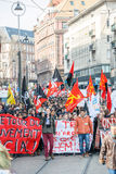 Protest mot Labour reformer i Frankrike Arkivbilder