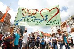 Protest mot lagliga aborter Royaltyfri Fotografi