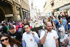 Protest mot lagliga aborter Royaltyfria Bilder