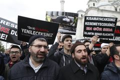 Protest mot massakern i Nya Zeeland, Istanbul royaltyfria bilder