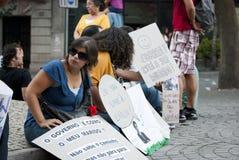 Protest mot regerings- snitt, Porto Fotografering för Bildbyråer
