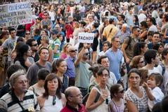 Protest mot regerings- snitt, Porto Arkivfoto
