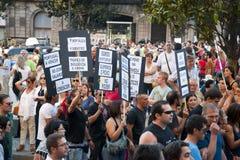 Protest mot regerings- snitt, Porto Arkivbild