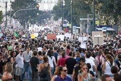 Protest mot regerings- snitt, Porto Royaltyfri Fotografi