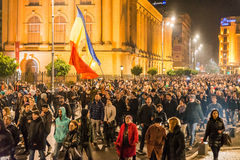 Protest mot rumänsk regering Arkivbild
