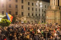 Protest mot rumänsk regering Arkivbilder