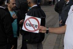 PROTEST MOT UBER Royaltyfri Foto
