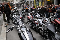Protest of motorcycle clubs. Oslo. Protest of motorcycle clubs MC. September 14, 2013. Oslo. Norway. Motorcycle brotherhood clubs Bandidos, Bootleggers Stock Image