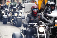 Protest of motorcycle clubs. Oslo. Royalty Free Stock Image