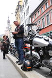 Protest of motorcycle clubs. Oslo. Stock Images