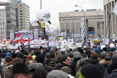 Protest op Prospekt van Akademik Sakharov in Moskou Royalty-vrije Stock Afbeelding