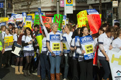 Protest over planned cuts. 2011/2/16:The Irish Nurses and Midwives Organisation has warned that student nurses who face pay cuts could harness a block of 200,000 royalty free stock photos