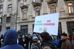 Protest på det Ombusmans kontoret. Arkivbilder