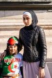 Protest in Parijs tegen een vijfde mandaat van Bouteflika van Algerije stock fotografie