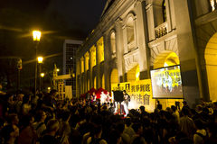 Protest party of Legislative Council last night stock images