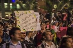 Protest in São Paulo - Brazil Royalty Free Stock Image