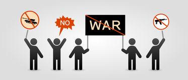 Protest of people against war Royalty Free Stock Photo