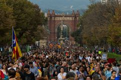Protest po referendum, Barcelona obraz royalty free