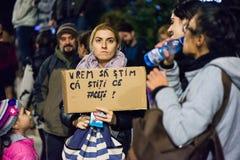 Protest przeciw coruption i Rumuńskiemu rzędowi Zdjęcie Stock