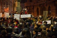 Protest przeciw coruption i Rumuńskiemu rzędowi Zdjęcia Stock