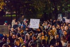 Protest przeciw coruption i Rumuńskiemu rzędowi Obrazy Royalty Free