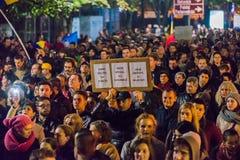 Protest przeciw coruption i Rumuńskiemu rzędowi Zdjęcie Royalty Free