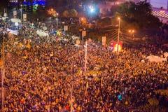Protest przeciw coruption i Rumuńskiemu rzędowi Obraz Royalty Free