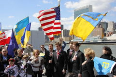 Protest przeciw Crimea inwazi Zdjęcie Royalty Free