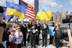 Protest przeciw Crimea inwazi Obraz Stock