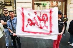 Protest przeciw fascism zdjęcie stock