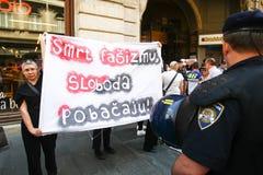 Protest przeciw fascism obraz royalty free