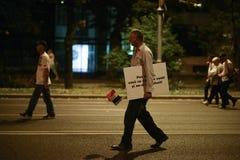 Protest przeciw sądowym nadużyciom Obraz Stock
