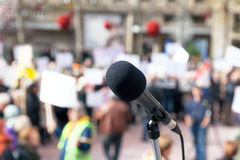 Protest. Public demonstration. Royalty Free Stock Image