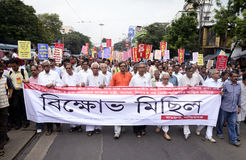 Protest rally against Chit Fund Scam Stock Photography