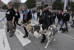 PROTEST RALLY DOG WALK AGAINST DOG LAW Stock Image