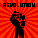 Protest, rebel vector revolution art poster Royalty Free Stock Photography