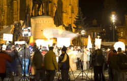 Protest in Roemenië Royalty-vrije Stock Afbeeldingen