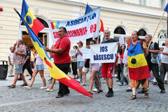 Protest in Romania Royalty Free Stock Photo