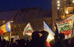 Protest in Rumänien Lizenzfreies Stockbild