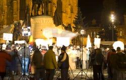 Protest in Rumänien Lizenzfreie Stockbilder