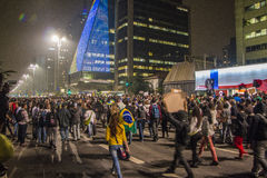 Protest in São Paulo - Brazil Stock Photos