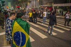 Protest in São Paulo - Brazilië Royalty-vrije Stock Afbeeldingen