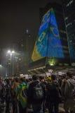 Protest in São Paulo - Brazilië Royalty-vrije Stock Afbeelding
