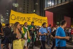 Protest in São Paulo - Brazilië Stock Fotografie