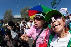 Protest-Sammlung der Arizona-Immigration-SB1070 stockfoto